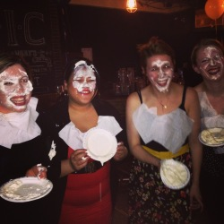 "From left to right: Alessandra ""Pie Faced"" Vite, Ann ""Pie Faced"" Pornel, Allison ""Pie Faced"" Hogg, Alexandra ""Pie Faced"" Wylie."
